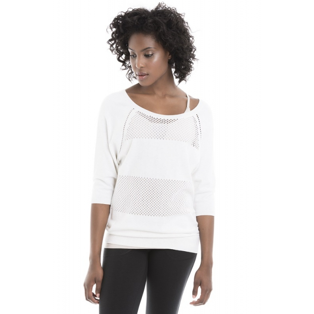 Lole - womens marble sweater white