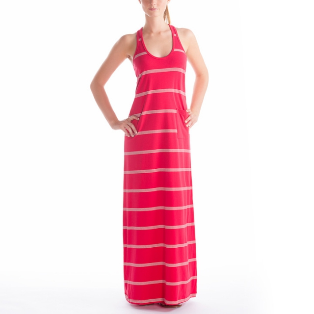Lole - - Sarah Dress - Medium - Pomegranate Mineral Stripe