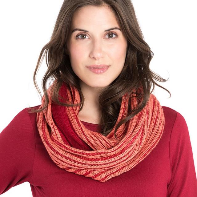 Lole - womens 2 tone scarf carnelian
