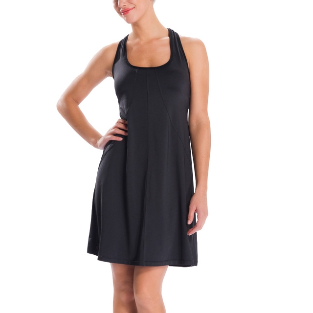 Lole - womens sunrise 2 dress black dip dye stripe