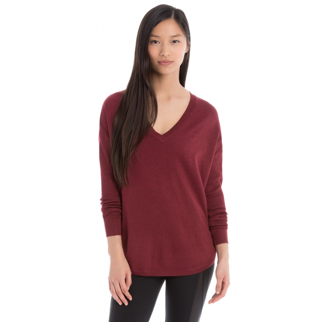Lole - - MARTHA SWEATER - X-SMALL - Rumba Red Heather