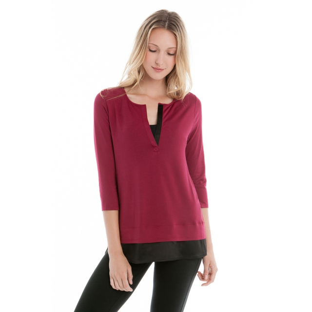Lole - - ABBY LS TUNIC - X-SMALL - Rumba Red