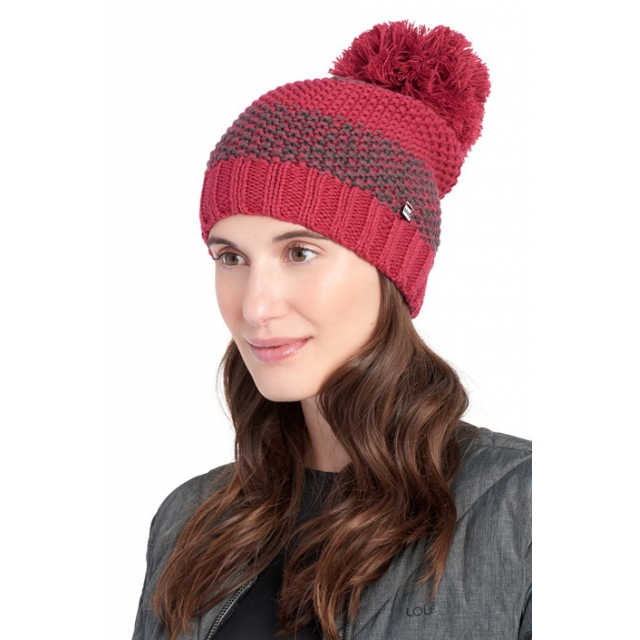 Lole - womens 2 tone smu beanie red sea