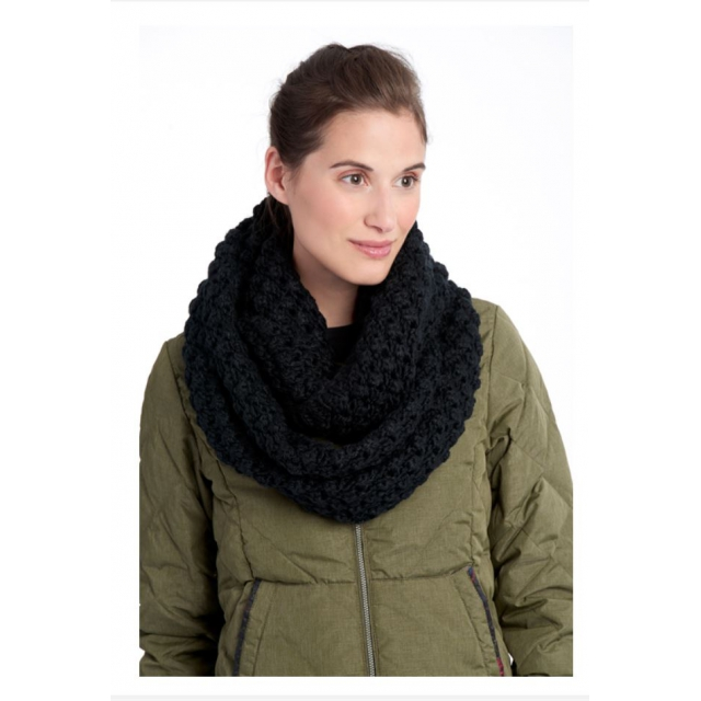 Lole - womens eternity scarf popcorn black