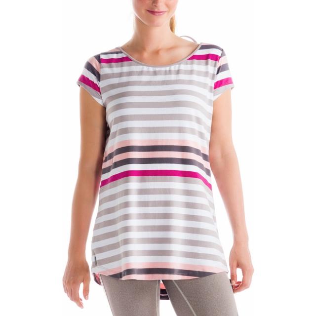 Lole - - Patricia Tunic Top - Small - Warm Grey Multistripes
