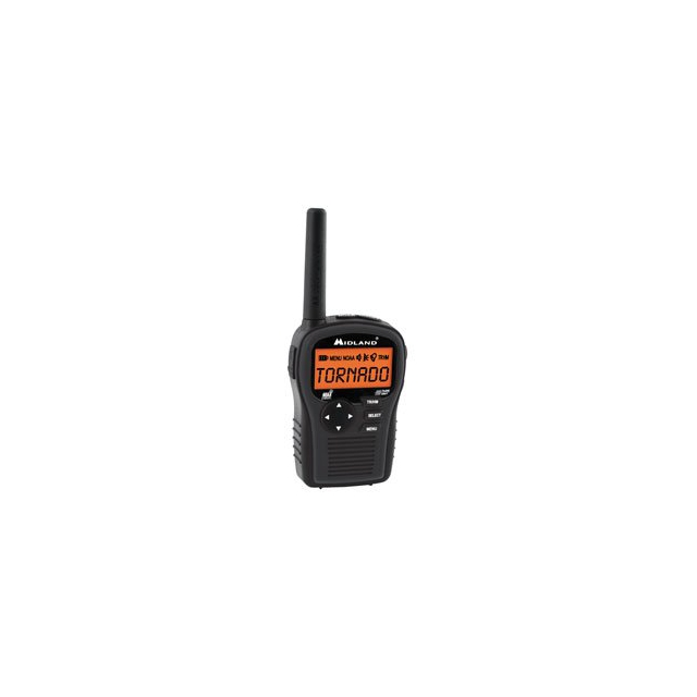 Midland - HH54VP2 Portable Weather Alert Radio - Black