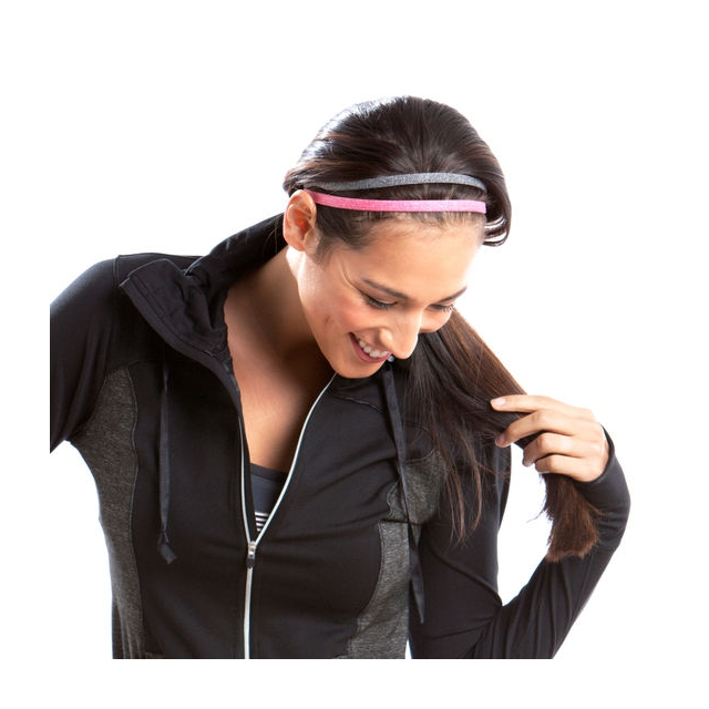 Moving Comfort - - Interval Headband - Shimmer Heather