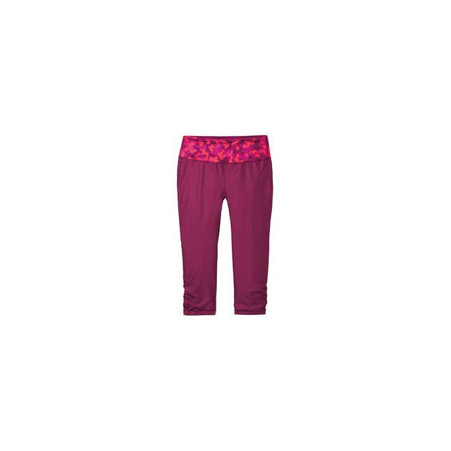 Moving Comfort - Switch It Up Capri - Women's - Blush Mini Glitter/Crimson In Size