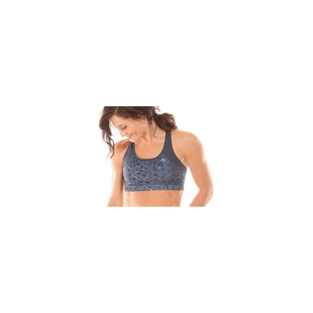 Moving Comfort - Phoebe Bra for Women - Ebony Mosaic/Ebony In Size: Extra Small