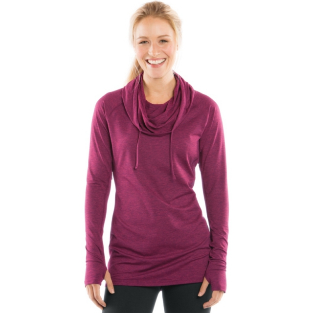 Moving Comfort - Womens Chic Hoodie - Closeout Crimson Heather Large