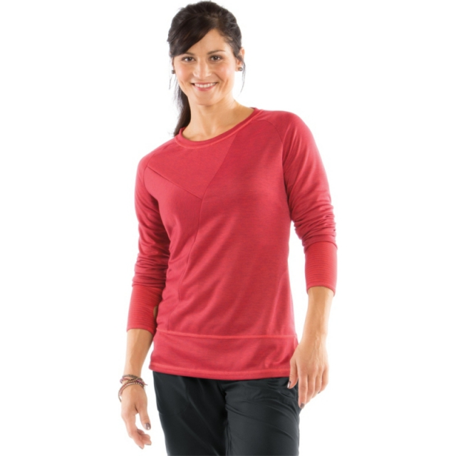 Moving Comfort - Womens Flipside Reversible - Sale Crimson Stripe/Punch Heather