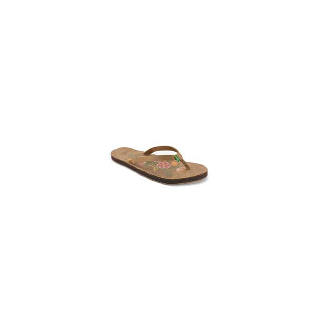 Sanuk - Flora the Explora Flip Flop Sandals - Women's - Tan In Size