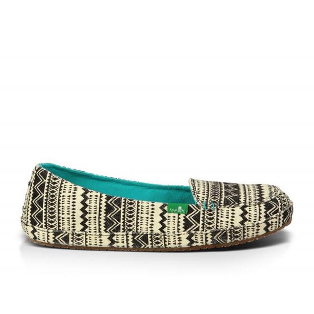 Sanuk - - Mirage Wms Shoe - 7 - Black/Tribal
