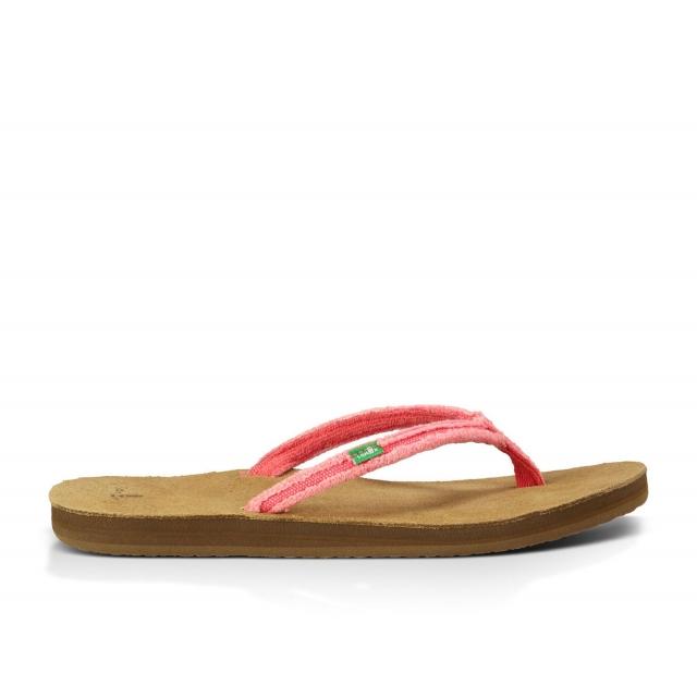Sanuk - - Slim Fraidy W Flip - 10 - Watermelon
