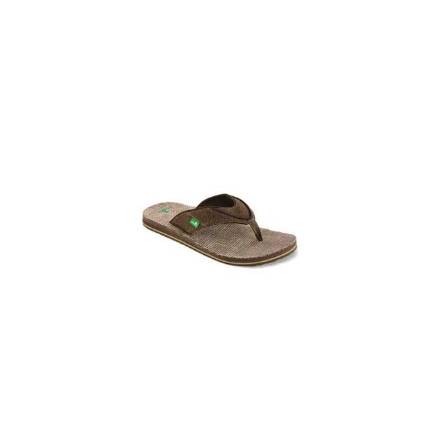 Sanuk - Beer Cozy Double Jute Flip Flop Sandals - Men's - Chocolate In Size: 8