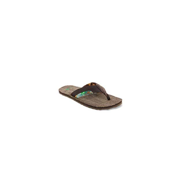 Sanuk - Range Flip Flop Sandals - Men's - Dark Brown In Size