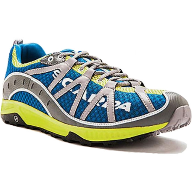 Scarpa - Spark Trail Running Shoe Mens - Ocean/Lime 42.5
