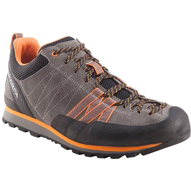 Scarpa - Crux Shoe Mens - Grey/Orange 44.5
