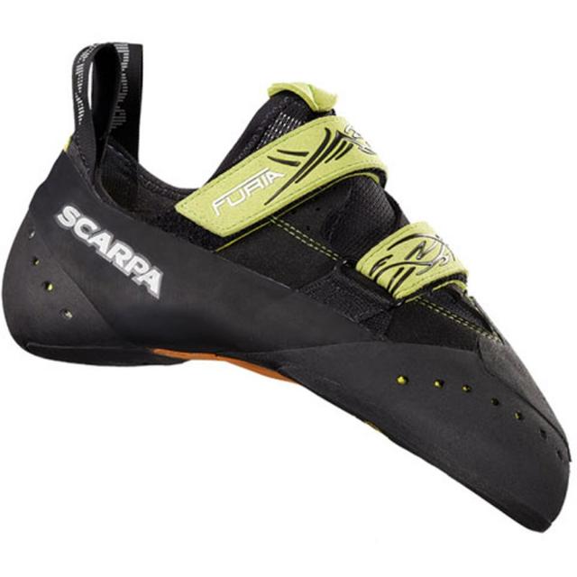 Scarpa - Furia Climbing Shoe Mens - Black/Lime 43