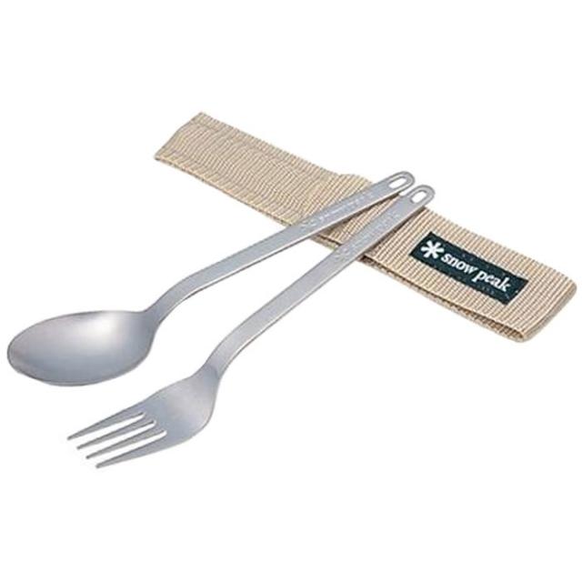 Snow Peak - Titanium Fork & Spoon  -