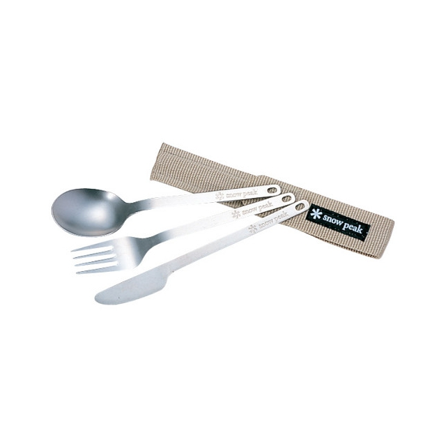 Snow Peak - 3 Piece Silverware Set - Titanium