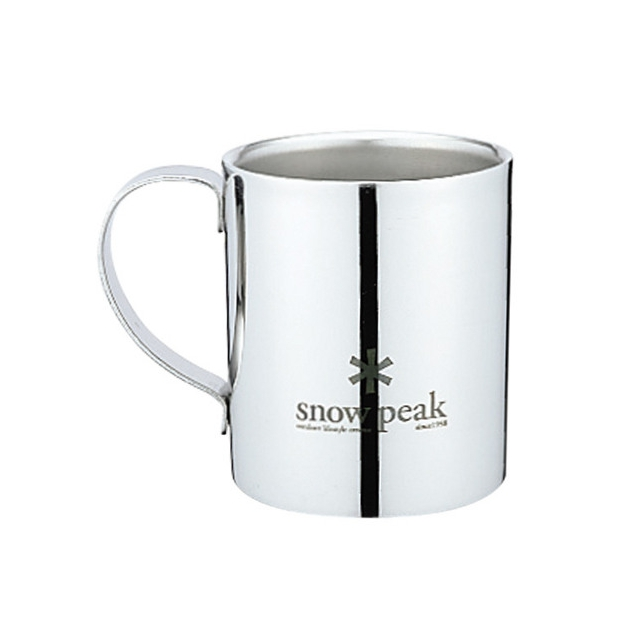 Snow Peak - Logo Double Wall Mug 240 - Stainless Steel