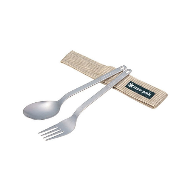 Snow Peak - Fork and Spoon Set - Titanium
