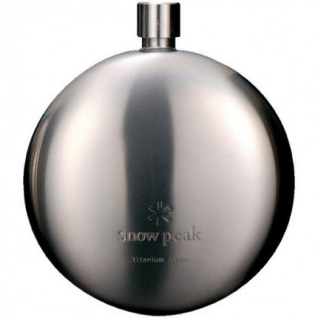 Snow Peak - Titanium Curved Flask  - Round Flask