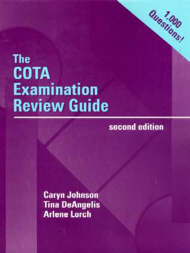 COTA Examination Review Guide. Text with CD-ROM for Windows Cover Image