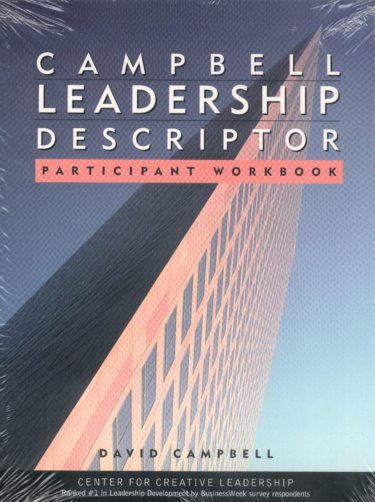 Campbell Leadership Descriptor Participants Package. Includes Participant Workbook and Leadership Descriptor Survey Cover Image