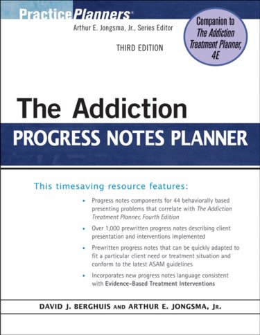 Addiction Progress Notes Planner Cover Image