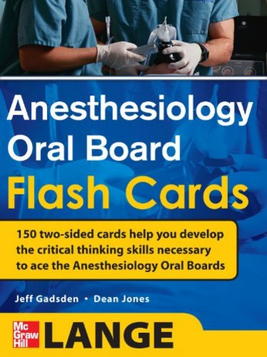 Anesthesiology Oral Board Flash Cards Cover Image