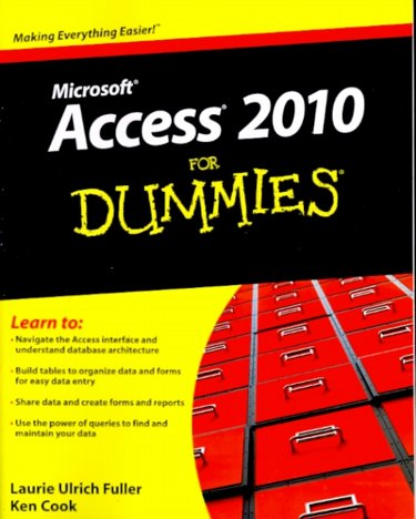 Access 2010 For Dummies Cover Image