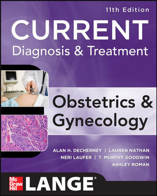 Current Diagnosis and Treatment: Obstetrics and Gynecology Cover Image