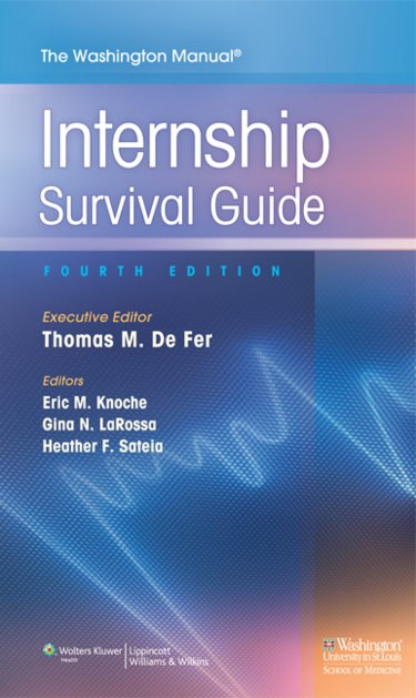 Washington Manual Internship Survival Guide. Includes Internship Procedure Card Cover Image