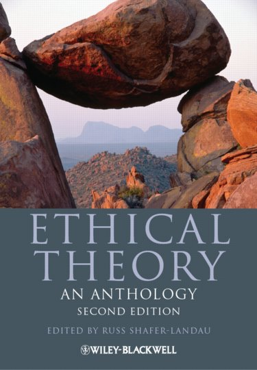 Ethical Theory: An Anthology Cover Image