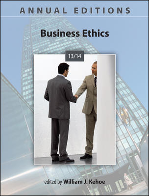 Annual Editions: Business Ethics 2013/2014 Cover Image