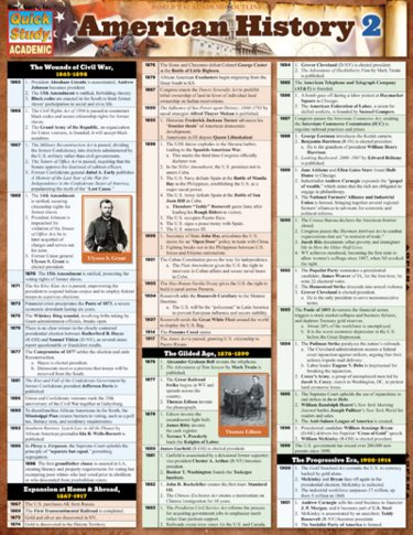American History 2 Laminated Reference Chart Cover Image