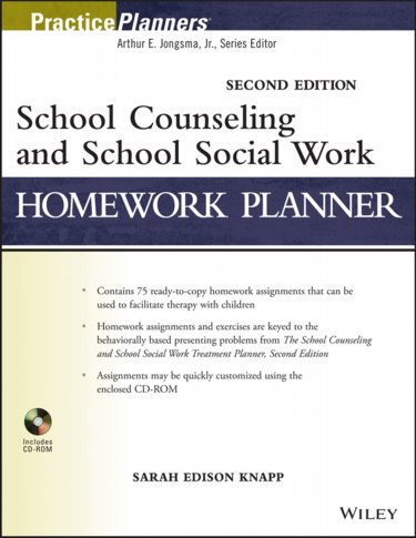 School Counseling and School Social Work Homework Planner. Text with CD-ROM for Windows Cover Image