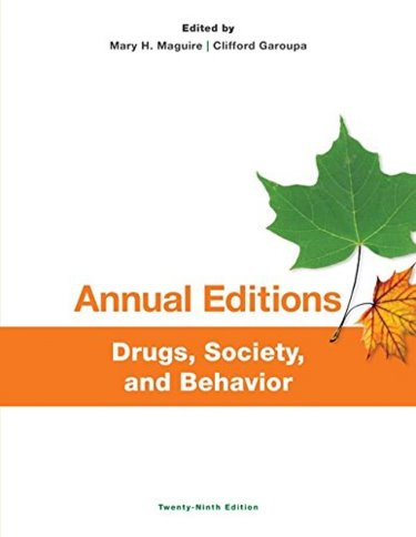 Annual Editions: Drugs, Society, and Behavior Cover Image