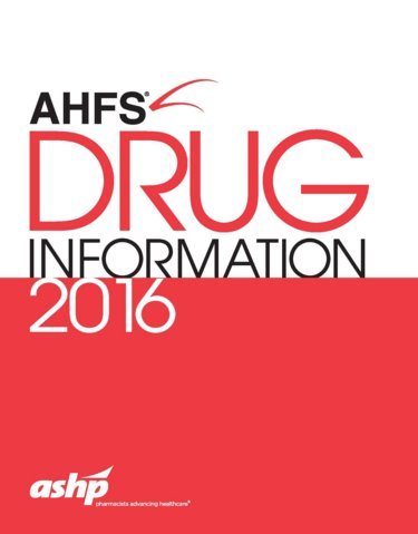 American Hospital Formulary Service (AHFS) Drug Information 2016 Cover Image