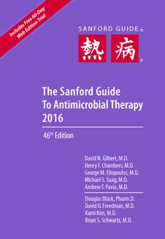 Sanford Guide to Antimicrobial Therapy 2016 Cover Image