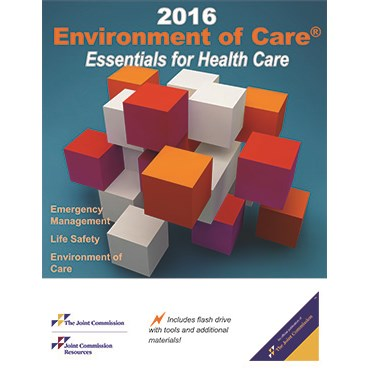 2016 Environment of Care Essentials for Health Care. Text with Flashdrive Cover Image