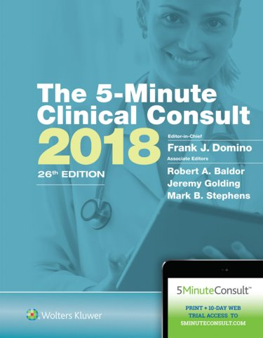 Five-Minute Clinical Consult Standard 2018. Text with Access Code for 10-Day Free Trial Cover Image