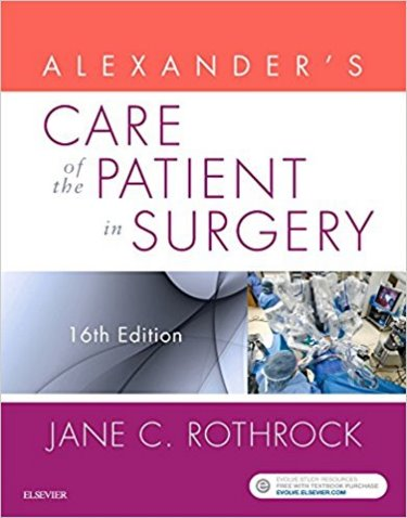 Alexanders Care of the Patient in Surgery. Cover Image