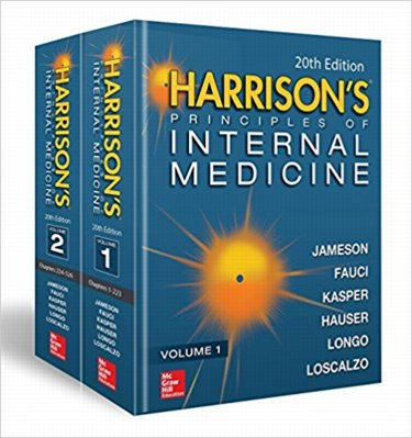 Harrisons Principles of Internal Medicine. 2 Volume Set. Text with DVD Cover Image