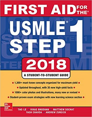 First Aid for the USMLE Step 1: 2018 Cover Image