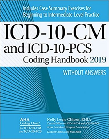 ICD-10-CM and ICD-10-PCS Coding Handbook 2019: Without Answers Cover Image
