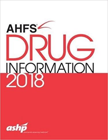 American Hospital Formulary Service (AHFS) Drug Information 2018 Cover Image