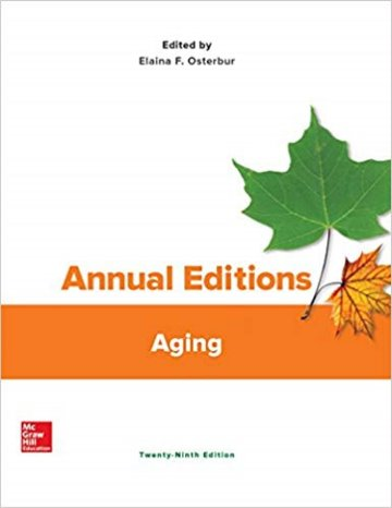 Annual Editions: Aging Cover Image